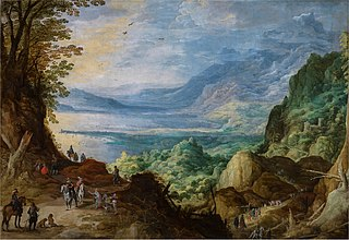 Joos de Momper, Landscape with Sea and Mountains, c. 1623