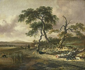 Landscape with a Peddler and Woman Resting