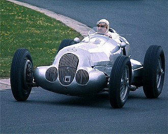 Mercedes-Benz in motorsport - Hermann Lang at the wheel of a 1937 Mercedes-Benz W125