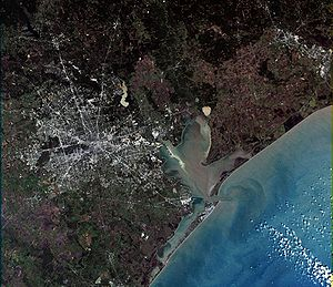 Southeast Texas - Southeast Texas via NASA's Landsat 7 satellite
