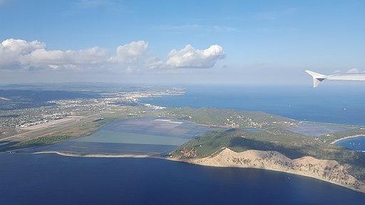 Las Salinas de Ibiza, vista aérea