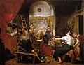 Las hilanderas con añadidos de mano ajena, by Diego Velázquez.jpg