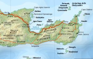 Isthmus of Ierapetra - The isthmus of Ierapetra.