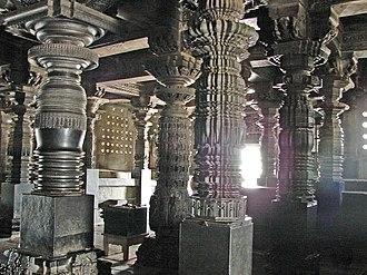 Lathe - Lathe turned pillars at Chennakeshava temple in Belur
