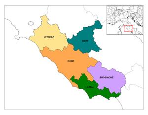 Lazio - Image: Latium Provinces