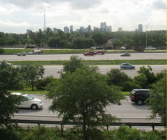 Interstate 95 in Florida - Interstate 95 as it goes through Fort Lauderdale