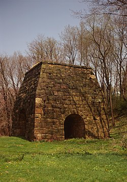 The Laurel Hill Furnace, a historic landmark in St. Clair Township