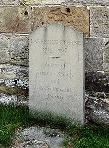 Sternes Grab in Coxwold (seit 1969) (Quelle: Wikimedia)