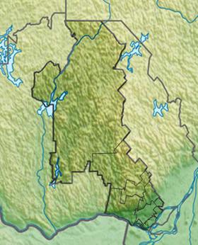 Voir la carte administrative de la zone Laurentides