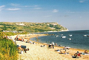 English: Lazy days on the beach at Ringstead
