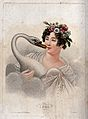 Leda and the swan. Colour stipple engraving. Wellcome V0048211.jpg
