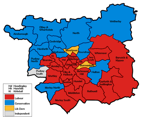 election map result with Leeds City Council Election  1992 on Index left additionally City of Bradford Metropolitan District Council election  1995 moreover The Search For Statutory Ulster additionally Nanded moreover 4644172.