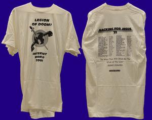"Legion of Doom (hacking) - 1991 Legion of Doom T-shirt created by Chris Goggans ""Erik Bloodaxe"""