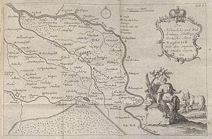 Johann Friedrich Mayer (agriculturist) - Map of the Hohenlohe, Lehrbuch für die Land- und Haußwirthe, Plate I, 1773