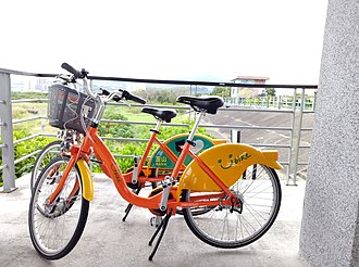 YouBike - Two YouBikes in Taipei