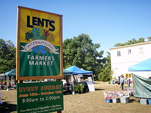 Lents, Portland, Oregon - Lents Farmers' Market, at 92nd and Foster