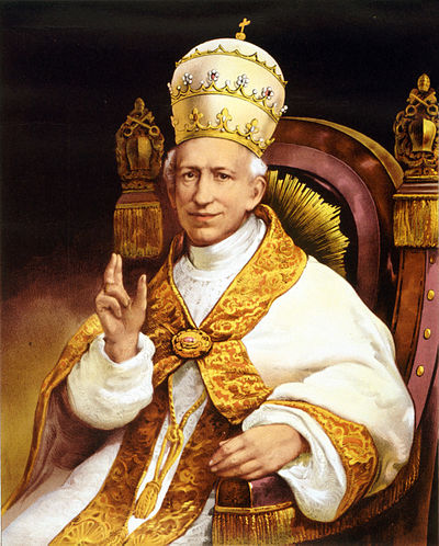 Under Pope Leo XIII, the Holy See acquired ownership of L'Osservatore in 1885. Leo XIII.jpg