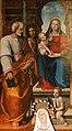 Leonardo Malatesta, Madonna col Bambino tra i santi Pietro, Sebastiano, Cosma, Silvestro e Giovannino, 1518, 03.jpg