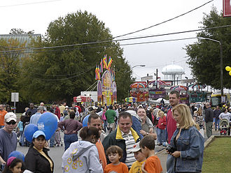 Lexington Barbecue Festival - Some of the rides at the festival