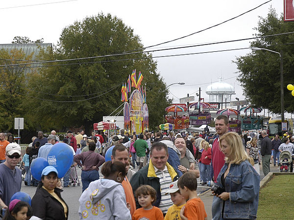 Some of the rides at the festival