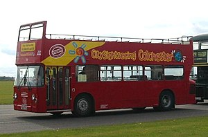 Eastern Coach Works - A Leyland Atlantean AN68/1R with ECW bodywork, built in 1978 (YNO 77S) for Colchester Borough Transport, later converted to an open top bus for City Sightseeing operation in Colchester