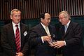 Li Ruogu, Chairman, China Eximbank, with Premier Juncker and Didier Mouget - Flickr - Horasis.jpg