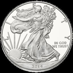Lícní strana American Silver Eagle