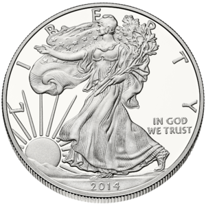 American Silver Eagle - Image: Liberty $1 Obverse