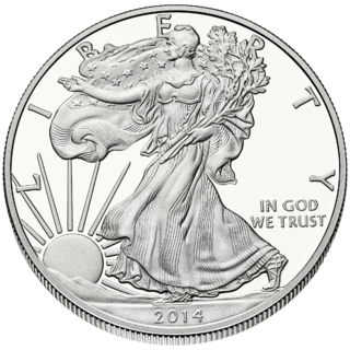Silver bullion coin of the United States