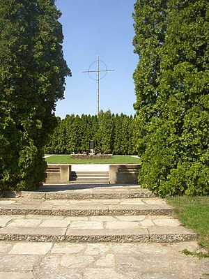 The mass grave of Lidice's men