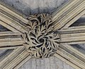 Lincoln Cathedral, Angel Choir N aisle, 6th Boss from E. (25738925368).jpg
