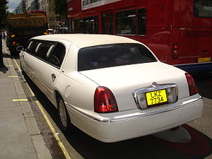 Lincoln Town car as a stretch limo