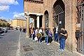 Lining up for the Bocca della Verità - Santa Maria in Cosmedin - Rome, Italy - DSC00530.jpg
