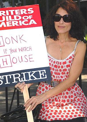 Lisa Edelstein - Edelstein picketed during the 2007–08 Writers Guild of America strike, which halted the production of House.
