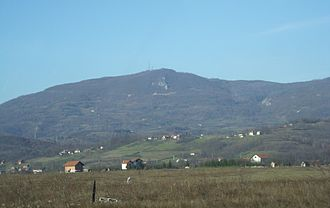 Kozara - View of the tallest peak, Lisina
