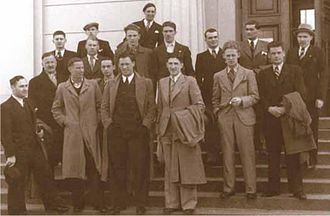 Lithuania men's national basketball team - Lithuania national basketball team players and staff members in 1937