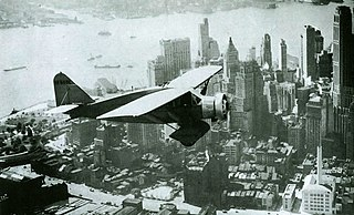 airplane flown from the United States across the Atlantic Ocean