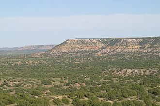 Llano Estacado - The northern edge of the Llano Estacado in New Mexico