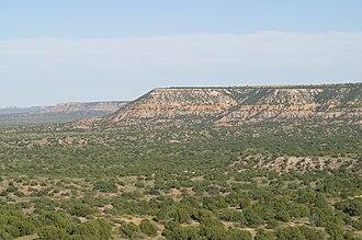 San Jon, New Mexico - Image: Llano Escarpment