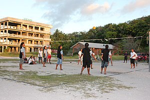 Culture of Nauru - Local volleyball game in Nauru