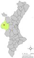 Localització de Caudete de las Fuentes respecte del País Valencià.png