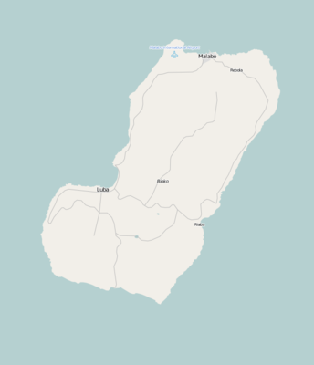 Location map Equatorial Guinea Bioko