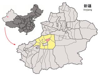 Xinhe County, Xinjiang County in Xinjiang, Peoples Republic of China