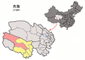 Location of Zhidoi within Qinghai (China).png