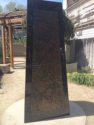 Locke, California - Memorial in Locke to Chinese immigrants and laborers