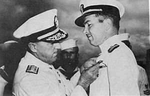 Roy M. Davenport - Image: Lockwood Pinning Navy Cross