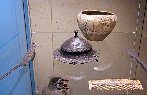 Lombard man's grave goods from Szólád, Hungary