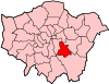 Location of the London Borough of Lewisham in Greater London