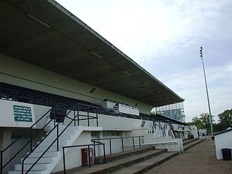 Athletic Ground, Richmond - The one and only stand at Athletic Ground, Richmond