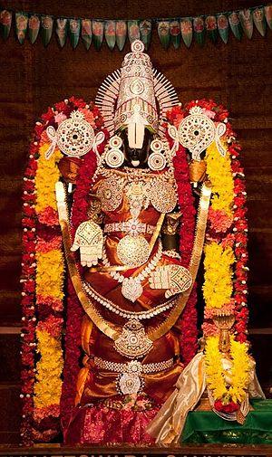 Venkateswara - Lord Sri Venkateswara at Parashakthi Temple in Pontiac, Michigan, USA